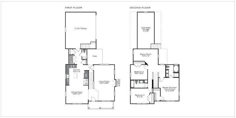 Hawthorne Floorplan | Falls at Hayden Run Houses