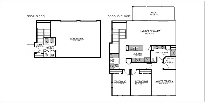 Bentley III Floorplan | The Mill at Georgetown Apartments